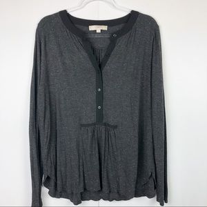 Loft Long Sleeved Button Front Top